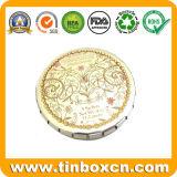 Контейнер металла круглый с щелчковой крышкой, оловом Clic-Clac Mint, оловом камеди