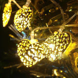 暖かい白のホーム装飾的な銀製の中心LED妖精ストリングライト