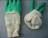 Работа Glove-5211gn латекса запястья руки Knit экономии открытая назад