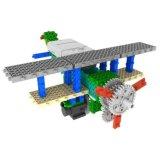 1488727-2 1 Fernsteuerungs-RC den Blöcken in des Militärflugzeug-Hubschrauber-Block-Installationssatz-Ausbildungs-kreatives Spielzeug 85PCS einstellen - die gelegentliche Farbe