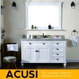 Vanità semplice americana all'ingrosso della stanza da bagno di legno solido di stile (ACS1-W55)