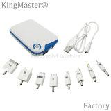 6000mAh Plastic Power Bank Batterie rechargeable pour téléphone portable avec câble