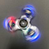 Duidelijke ABS van de Voorraad van de fabriek 30k friemelen Spinners met leiden van de Kleur
