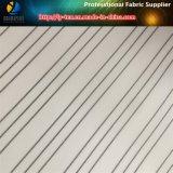Белая подкладка втулки Twill в дешевой покрашенной пряжей ткани нашивки (S140.150)