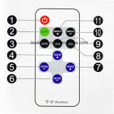 11 Key Mini RF Control Remoto Inalámbrico del interruptor para la sola tira del LED del color