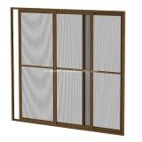 Estrutura de alumínio Fiberglass Mesh Horizontal Retractable Insect Screen