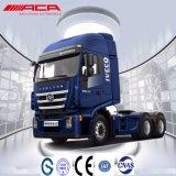 Caminhão do trator do táxi 340HP 45t do Short do telhado liso de Saic-Iveco Hongyan 6X4
