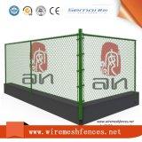 테니스 코트 비닐 검정 체인 연결 직물