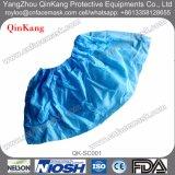 Cubierta microporosa azul blanca disponible del zapato del CPE PP SMS del PE