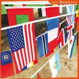 Piccole bandiere nazionali di rettangolo per gli eventi di sport con il buon prezzo