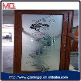 Porta do banheiro com vidro geado