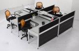 Partition en bois en verre en aluminium moderne de poste de travail/bureau de compartiment (NS-NW334)