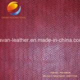 La conception de tissage de jolies couleurs synthétiques pour les sacs de meubles en cuir de PU