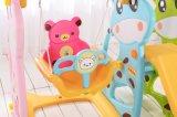 Дешевые крытые пластичные скольжение и качание для малышей (HBS17004A)