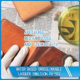 Émulsion acrylique de laque réticulable à base d'eau pour la peau en cuir
