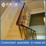 Personalizado hueco fuera de oro rosa # 304 de acero inoxidable Barandilla de escalera