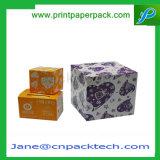 Причудливый коробка коробки подарка рождества ювелирных изделий серег кольца бумажная упаковывая