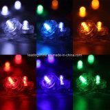 Wasserdichtes versenkbares elektronisches flammenloses u. rauchloses Kerze-Mehrfarbenlicht LED-Tealight für Partei-Dekoration