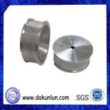 Engrenagem industrial de alumínio de precisão personalizada com moleteado