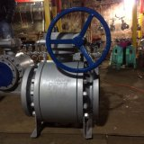 Dn15 ~ Dn50 Worm Gear Operação Flange Forged Steel Fixed Ball Valve