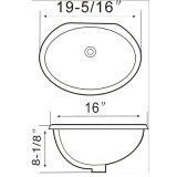 A8603 Foshan Bathroom Bathroom Undermount Sink