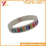 Pulseira de silicone colorido e luminoso com logotipo Debossed (YB-AB-025)