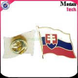 Funny USA Soft Enamel Metal Iron Flag Lapel Pins (MTLP006) com clipes de borracha