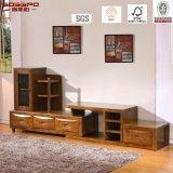 Support de télévision en bois massif laqué chinois / meuble de télévision en bois (GSP13-011)
