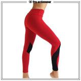 Pantalon rouge de yoga de séance d'entraînement de Sportwear de forme physique de femmes d'OEM