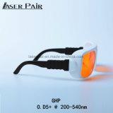 Anteojos del laser de los anteojos de seguridad de laser de la absorción Od5+@200-532nm para el excímero, ultravioleta, laser verde