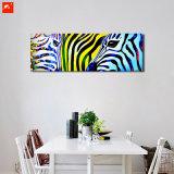 Photo murale colorée d'animaux sauvages Zebra Peinture d'huile