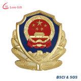 Pin su ordinazione del risvolto del distintivo dell'oro 3D per l'uniforme ed il cappello