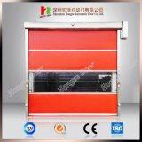 Промышленная раздвижная дверь завальцовки PVC высокоскоростная автоматическая быстро