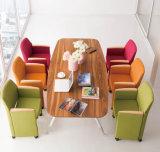 현대 가구 로비 손잡이지주 (HX-5CH080)를 가진 창백하 회색 직물 여가 의자