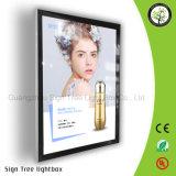 Acrílico de aluminio del marco del LED que hace publicidad del rectángulo ligero magnético delgado estupendo