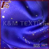 Печать с блестящей поверхностью чистый шелк атласный Charmeuse ткани для женщин платья