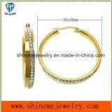 Pendiente del oro del laminado de la joyería del acero inoxidable de la joyería de Shineme (ERS6895)
