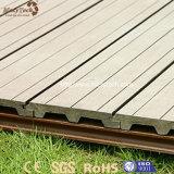 Composé en plastique en bois extérieur résistant UV moderne pour le plancher de Decking