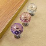 Serie de la manija cristalina rosada para la decoración de los muebles
