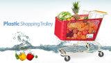 スーパーマーケットのプラスチックショッピングトロリーカート