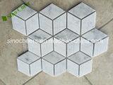 Carrara Blanco Blanco Bianco Carrera Mármol Hecho Mosaico Diamante