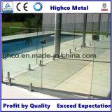Zipolo inossidabile con la flangia per il vetro di 12-18mm per la recinzione del raggruppamento
