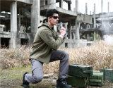Grey Tactical Army Military Men Outdoor Caça Casaco impermeável Casaco