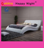 최신 나무 PU 상자 침대 룸 가구 G1108를 가진 가죽 2인용 침대 디자인