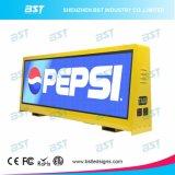 Alto Brilho Cor 3G/4G/WiFi táxi Top Display LED para exibição de Publicidade