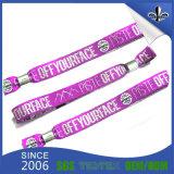 Tissu tissé de polyester Bracelet personnalisé pour les cadeaux