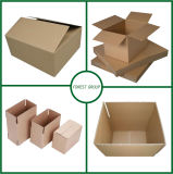 ロジスティクスのためのブラウンの段ボール紙の出荷のカートンボックス