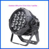 Exterior IP65 LED Quad 14PCS DJ/plana de la luz de Club PAR