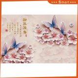 Выбитая картина маслом бабочки & цветка для домашнего украшения