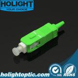 Vert uni-mode de Sc RPA 0.9mm de connecteur de fibre optique